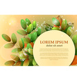 Autumn leaves of acacia with space for your vector image vector image