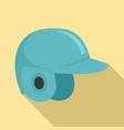 baseball helmet icon flat style vector image vector image