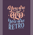 birthday lettering in retro style anniversary vector image vector image