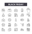 black friday line icons signs set vector image vector image