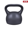 Black weight kettlebell vector image vector image