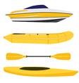 Boats set vector image vector image