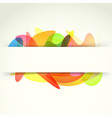 Bright colorful abstract background template vector image vector image