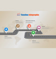 business road map timeline infographic vector image vector image