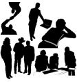 business silhouettes vector image vector image