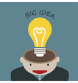 Businessman Thinking Big Idea Concept vector image