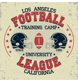 California football vintage t-shirt graphics vector image vector image