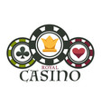 casino royal club isolated icon poker chips vector image vector image