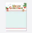 christmas santa letter blank template a4 decorated vector image vector image