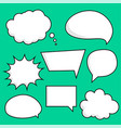 comic chat bubbles sticker set vector image vector image