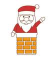 cute santa claus in chimney vector image