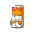 devil package juice mascot cartoon vector image vector image