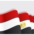 Egyptian waving Flag vector image vector image