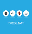 flat icon dress set of uniform brasserie clothes vector image vector image