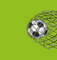football soccer ball goal came in gate win vector image