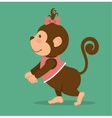 funny monkey design vector image vector image