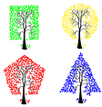 geometric shape tree vector image vector image