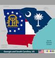 georgia and south carolina united states vector image vector image