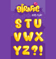 giraffe font 3set vector image vector image