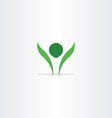 green logo healthy man symbol element sign vector image