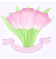 hand drawing tulips vector image