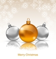 Holiday Background with Christmas Balls and vector image