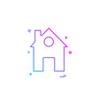 home house icon design vector image