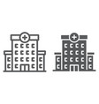 hospital line and glyph icon architecture vector image vector image