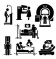 hospital medical checkup screening diagnosis vector image vector image