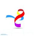 icon ribbon symbol flat vector image vector image