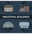 Industrial and business building icons vector image