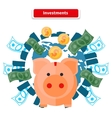 Investment Piggy Bank vector image