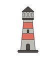 lighthouse navigation symbol vector image vector image