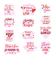 love lovely calligraphy lovable lettering vector image vector image