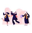 male female alumnus graduating university college vector image vector image