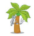 mechanic palm tree character cartoon vector image vector image