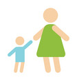 mother baby silhouette happy family flat style and vector image vector image