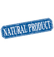 natural product blue square vintage grunge vector image vector image
