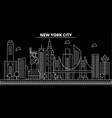 new york city silhouette skyline usa - new york vector image vector image