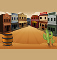 old western town vector image