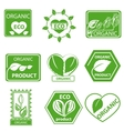 Organic products leaflet logo vector image vector image