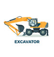 powerful modern excavator with big ladle for vector image vector image