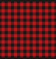 red lumberjack pattern vector image