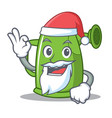 santa watering can character cartoon vector image vector image