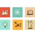 Scientific laboratory flat icons vector image