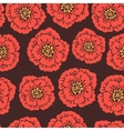 Seamless floral pattern with blooming poppies vector image vector image