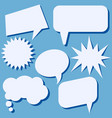 set of speech bubbles without phrases vector image vector image