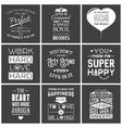 set vintage love typographic quotes vector image vector image