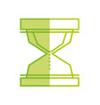 silhouette hourglass object to know the time vector image vector image