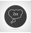 Sleep sign black icon vector image